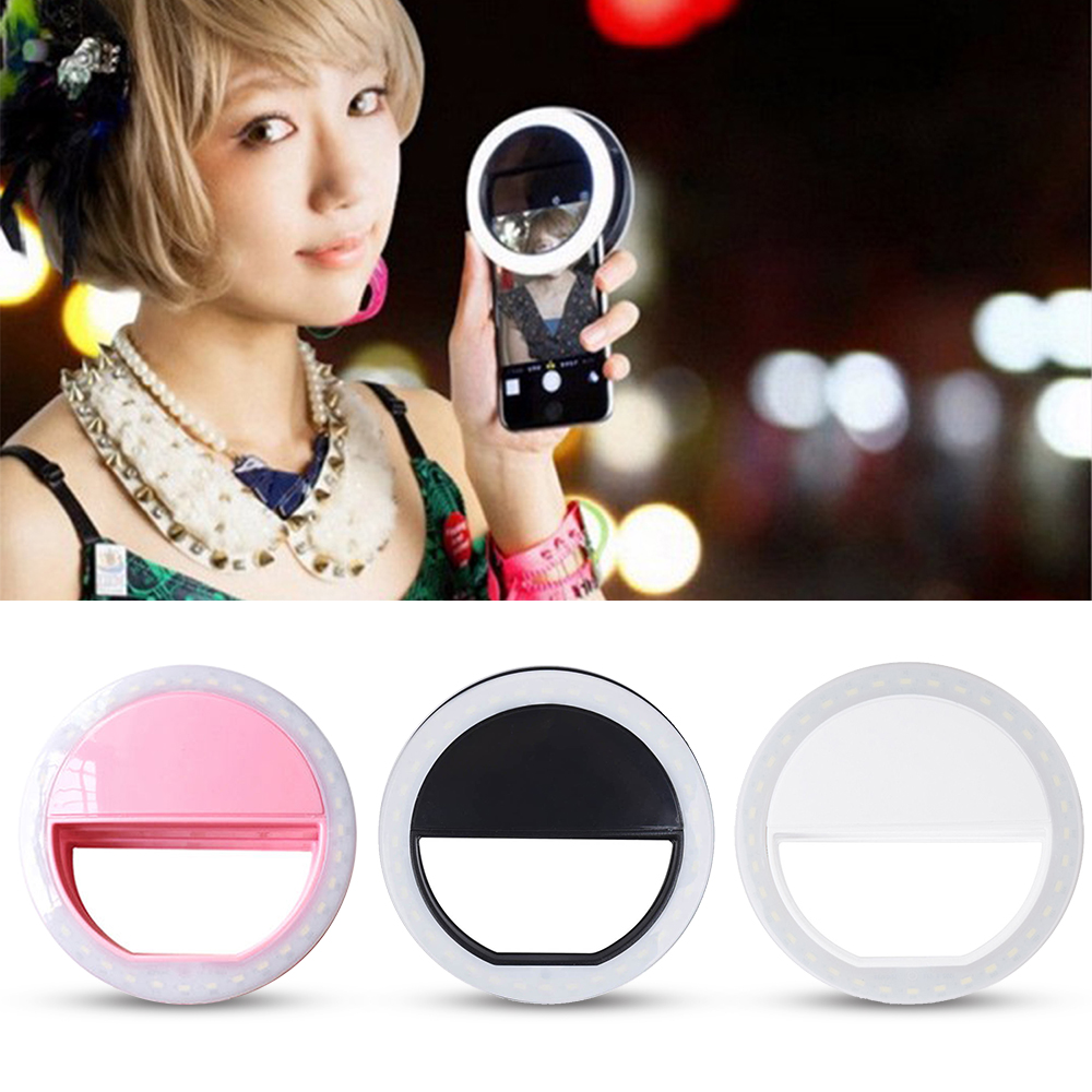 Smart Ring Selfie Light Practical and Portable Selfie Flash LED Phone Camera Ring Light For Apple Iphone Samsung HTC Smartphones(China (Mainland))