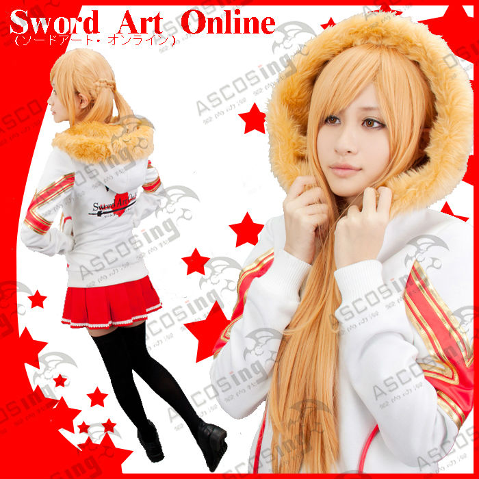 Sword Art Online Asuna Yuuki Casual Women Dress Anime Sweatshirt Cosplay Costume Hoodies - wendy D's store