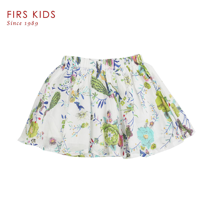 FIRS KIDS Tutu Mini Girls Skirts 2016 New Summer 100% cotton Tutu Bow Ribbon For Age 3-8y Kids Flower print Fashion(China (Mainland))