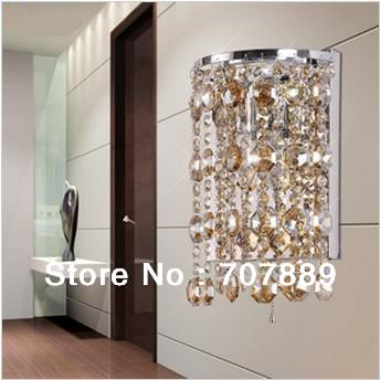 Free shipping! Dia 18cm High quality fashion crystal wall lamp,Stainless steel light for livingroom WL046,also for wholesale<br><br>Aliexpress