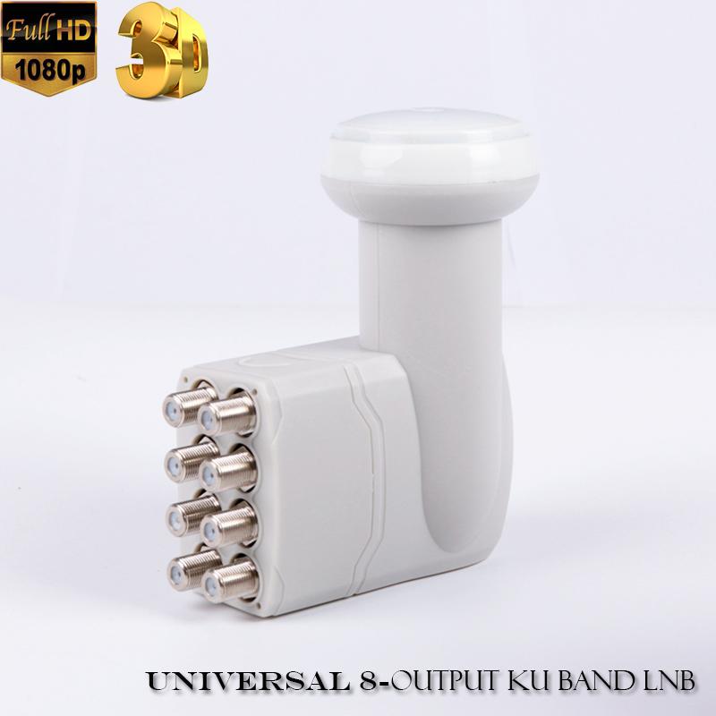 Hight quality universal ku lnb digital reception universal 8 input and 8 output LNB HD waterproof ku lnb satellite tv lnb(China (Mainland))