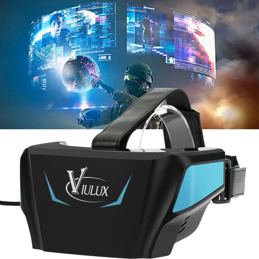 "VIULUX V1 VR Headset VRBox Virtual Reality Glasses 3D Game Movie 1080P 5.5"" OLED Display Screen w/HDMI USB for Computer Notebook(China (Mainland))"