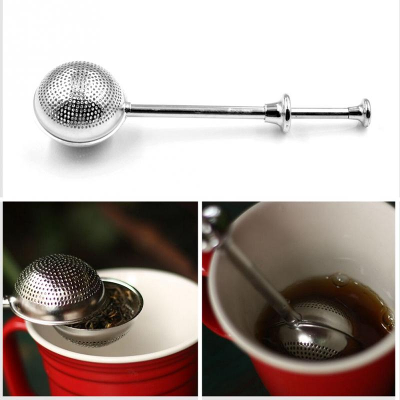 NEW Home Convenient Necessary Filter Mesh Loose Tea Ball Infuser Stainless Steel Spice Herbal Tea Leaf Strainer(China (Mainland))