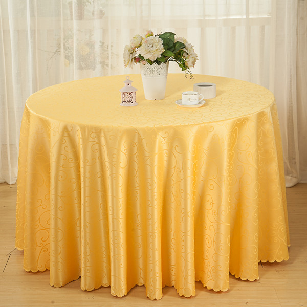 Cheap Polyester Solid Jacquard Dining Tablecloth Round Table Linen Party Table Covers Wedding Table Cloths Gold/White/Red/Coffee(China (Mainland))