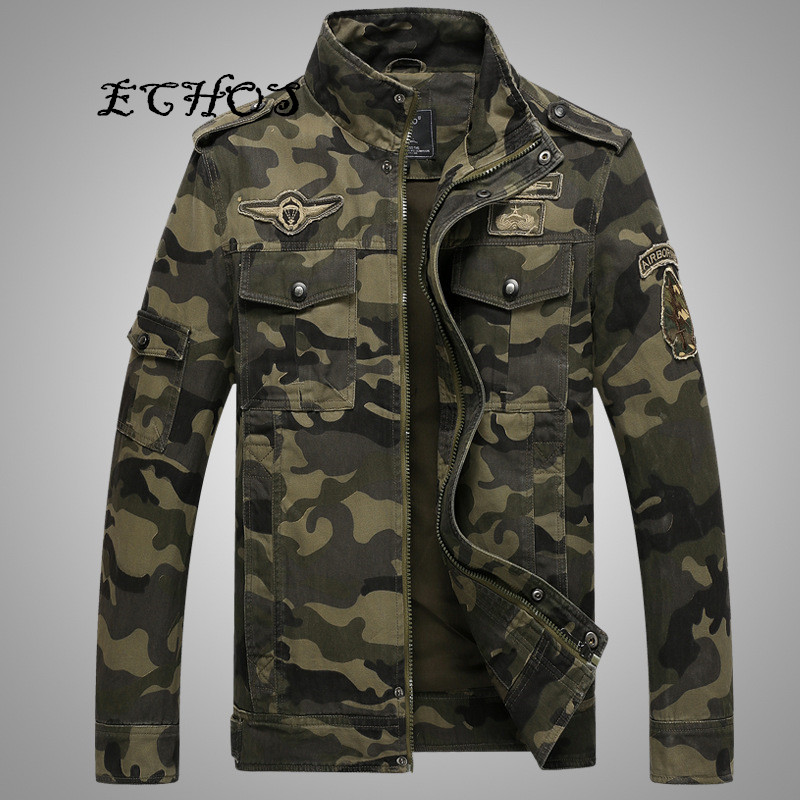 Autumn And Winter Camouflage Jacket Men American Military Style Camo Jacket Men 2016 New Varsity Jackets Cotton Man Jacket(China (Mainland))