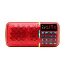 Mini Portable LCD Digital AM FM Radio Speaker Player USB SD TF Slot Music Red