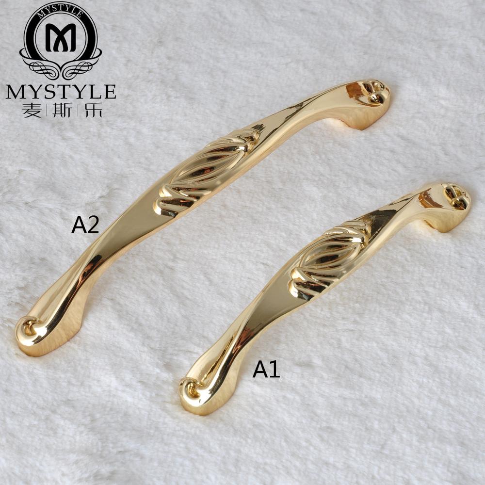 The new European American cupboard door handle cabinet drawer wardrobe door handle golden copper handle<br><br>Aliexpress