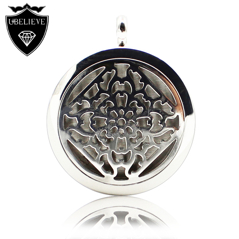 316L Stainless Steel Perfume Locket Floating Aromatherapy Essential Oil Diffuser Locket Pendants Necklace(Send Chain, felt pad)(China (Mainland))
