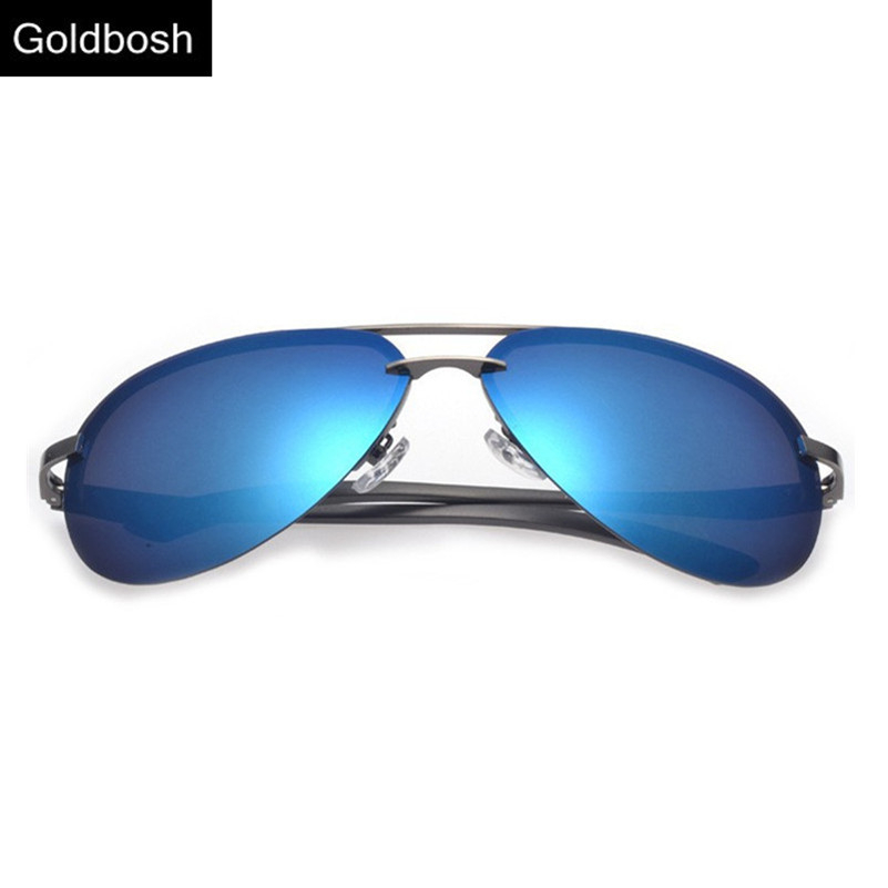 aviator men polarized sunglasses driving glasses Classic eyewear fashion brands designer rimless sun glasses Blue Time limited(China (Mainland))