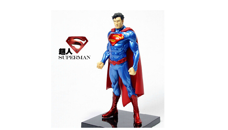 DC Comics Superhero Superman PVC Action Figure Collectible Model 18CM Free Shipping(China (Mainland))