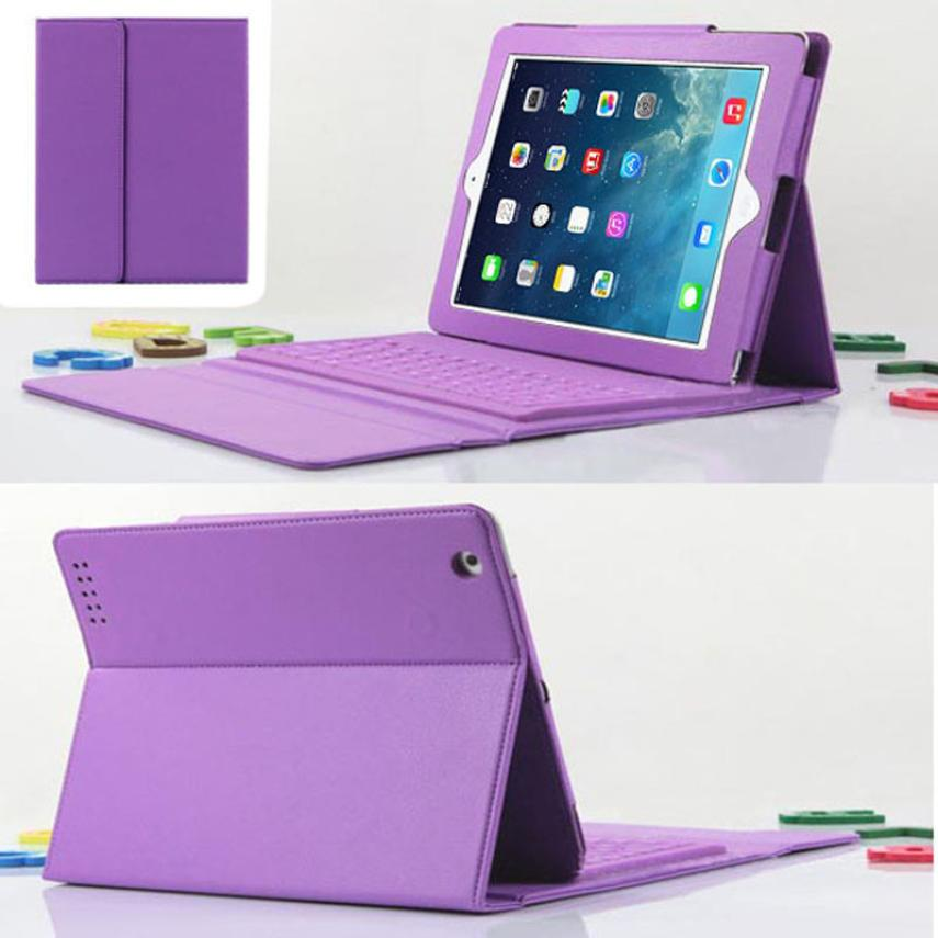 Hot selling New! Fashion Super For iPad 2 3 4 Bluetooth Silicone Keyboard Stand Leather Case Cover 1PC<br><br>Aliexpress