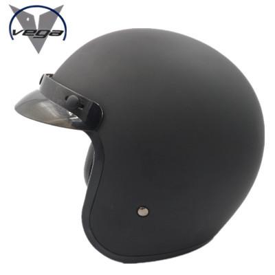 Фотография Free shipping US VEGA genuine personality retro half helmet motorcycle helmet prince helmet motorcycle helmet /Matte Black