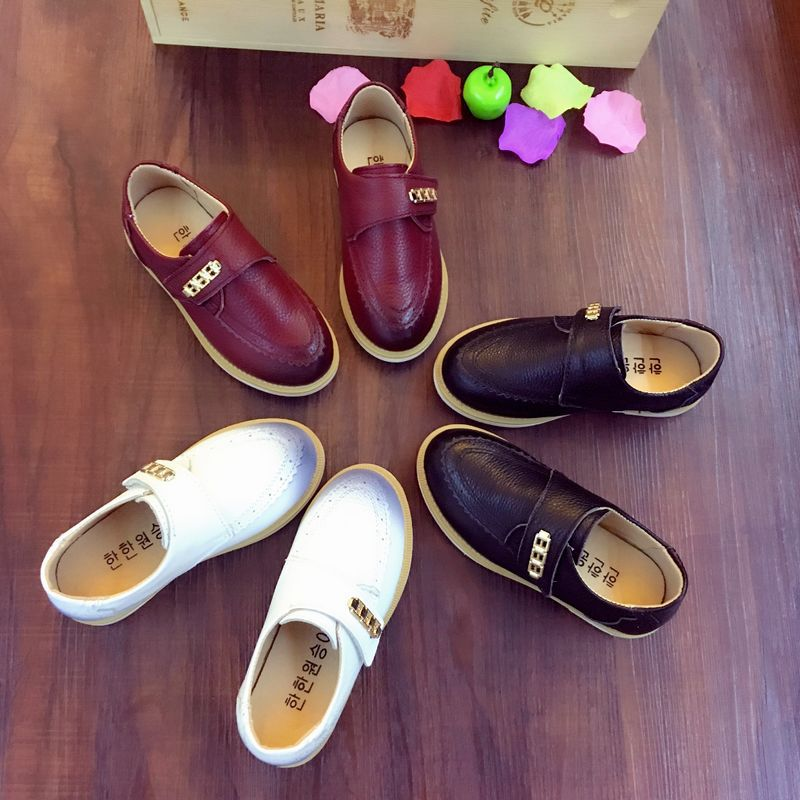 2016 Summer new children genuine leather shoes boys casual flat shoes kids high quality leather shoes student shoes CB-C324(China (Mainland))