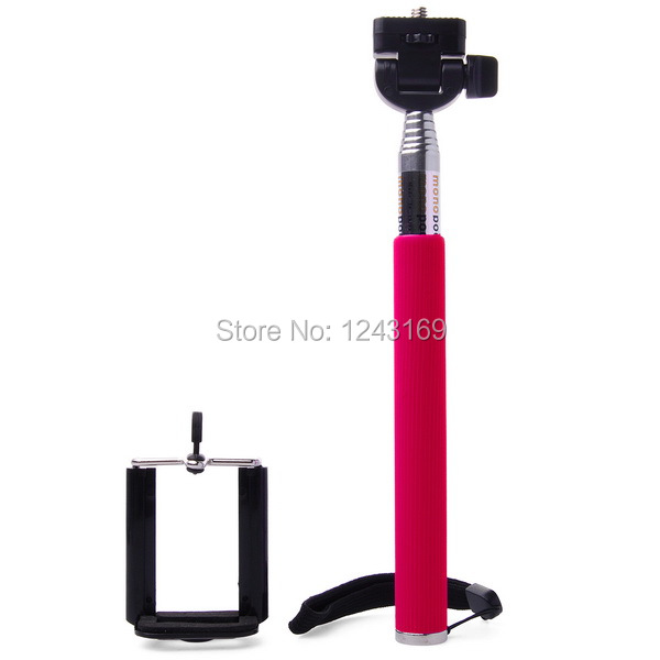 extendable handheld selfie stick tripod monopod clip for iphone 4 4s 5 5s s. Black Bedroom Furniture Sets. Home Design Ideas