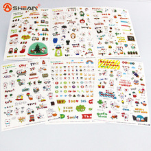 New Lovely 6 Sheet Paper Stickers for Diary Scrapbook Notebooks & Writing Pads Memo Pad Stationery Sticker