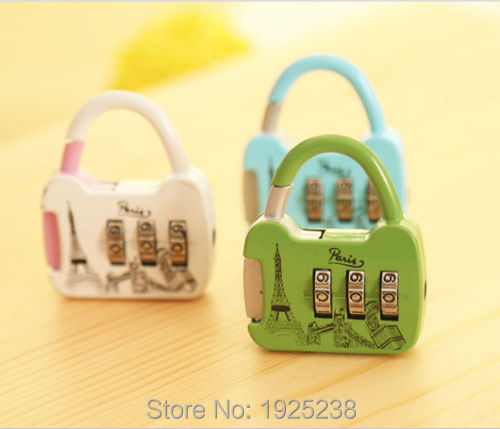 Travel Luggage Security Cable Suitcase Padlock 3 Digit Combination Mini Lock(China (Mainland))
