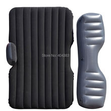 2 Pillow gift Car back Seat inflatable Air Mattress bed universal flocking Cushion - Fuway HK Trading Co., Ltd store