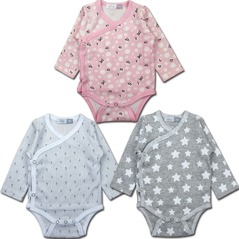 Newborn babies in spring and summer baby clothing long sleeve triangle climb clothes whosale available(China (Mainland))