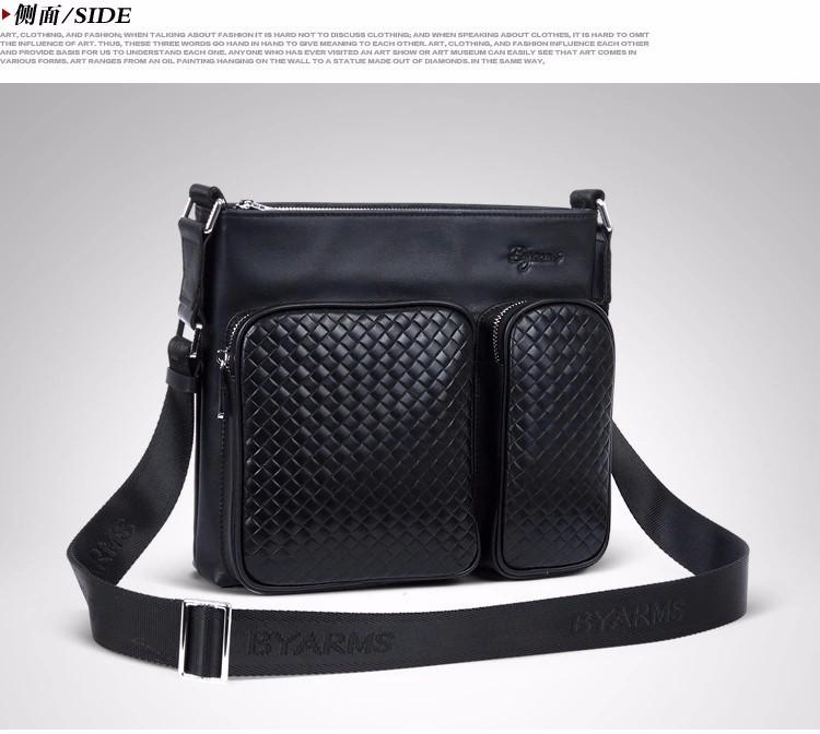 Hot Sale New 2015 Fashion Designer Men Shoulder Bags,  Genuine Leather Bags,  For Men Messenger Business Bag, Free Shipping#1062
