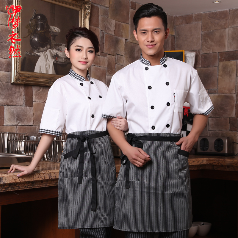 20pcs Clothing cook suit summer short-sleeve after tooling work wear short-sleeve summer clothing chef shirt chefs uniforms(China (Mainland))