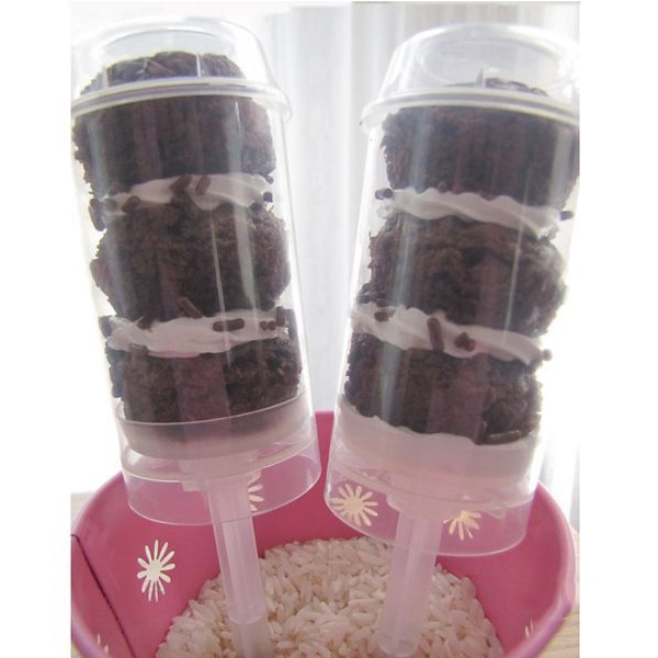 TradePlus 5Pcs Push Pop Cake Containers Ice Cream Candy Cupcake Stand(China (Mainland))