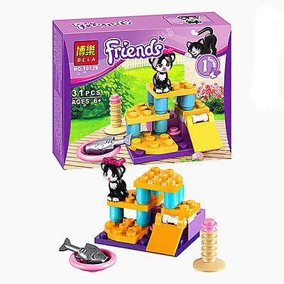 The new Friends Cats Playground Set Series 1 Brand New Free Building Block Toys Assemble toys gift for kids Compatible with Lego(China (Mainland))