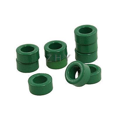 10 Pcs Inductor Coils Green Toroid Ferrite Cores 10mm x 6mm x 5mm<br><br>Aliexpress