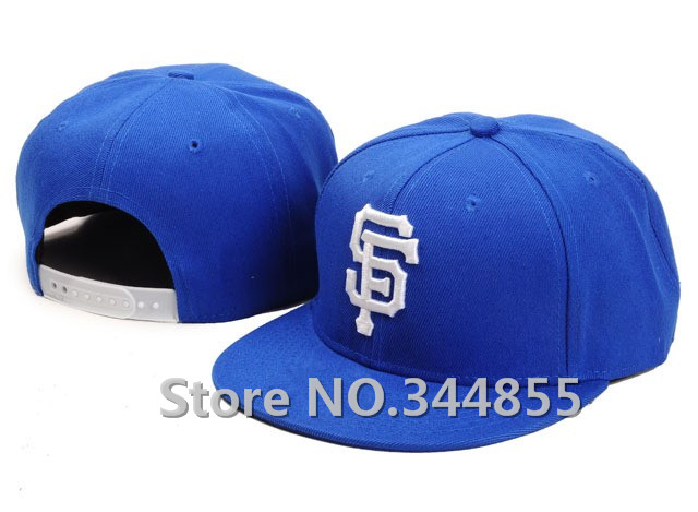 Men's San Francisco Giants Snapback Hats in Royal Blue Color Baseball Sport Team Embroidered SF Flat Adjustable Caps(China (Mainland))