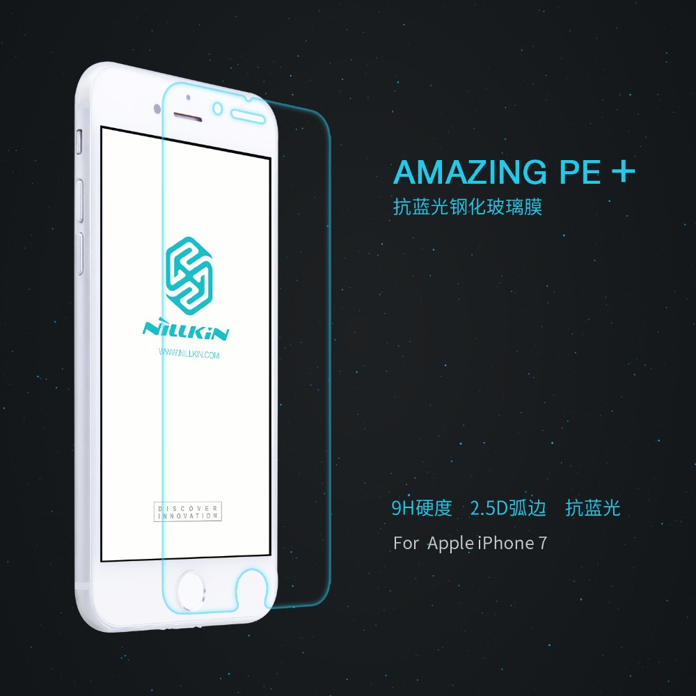 NILLKIN For font b Apple b font iPhone 7 Amazing PE Nanometer Anti Explosion Tempered Glass