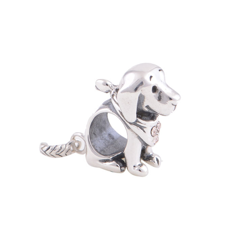 hot new products for 2014 puppy dog charm silver 925 jewelry fits braclets alibaba website GW fine jewelry YZ510<br><br>Aliexpress