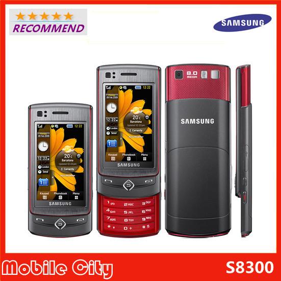 "100% Original Unlocked Samsung S8300 3G Mobile Phone 2.8"" Touch Screen A-GPS 8MP Camera Refurbished(China (Mainland))"