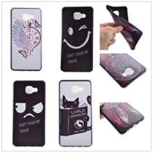 10 Pattern, Smile & Angry TPU 3D print Soft silicone black Case Cover For Samsung Galaxy A5100 A510 A510F Mobile Phone Bag
