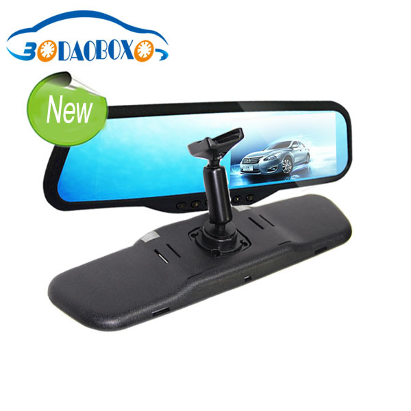 4.3 inch display video recorder rearview mirror, tachograph with bracket for Cruze(China (Mainland))