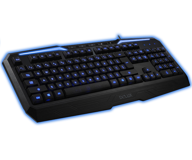 DELUX K9025 LED backlit gaming keyboard USB wired computer keyboard(China (Mainland))