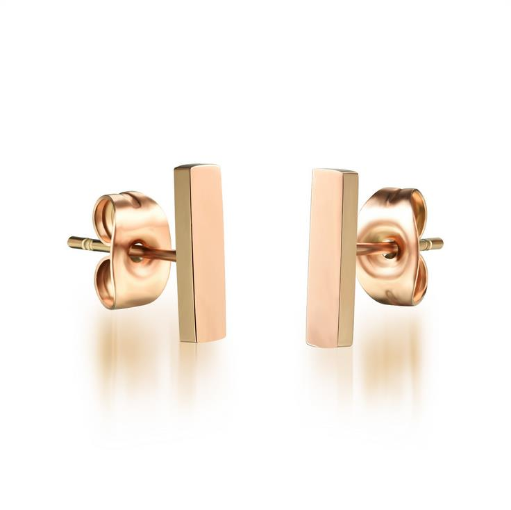2016 European And American stud earrings Rose Gold Stainless steel Earrings For Womens Earrings boucle d'oreille femme jewelry(China (Mainland))