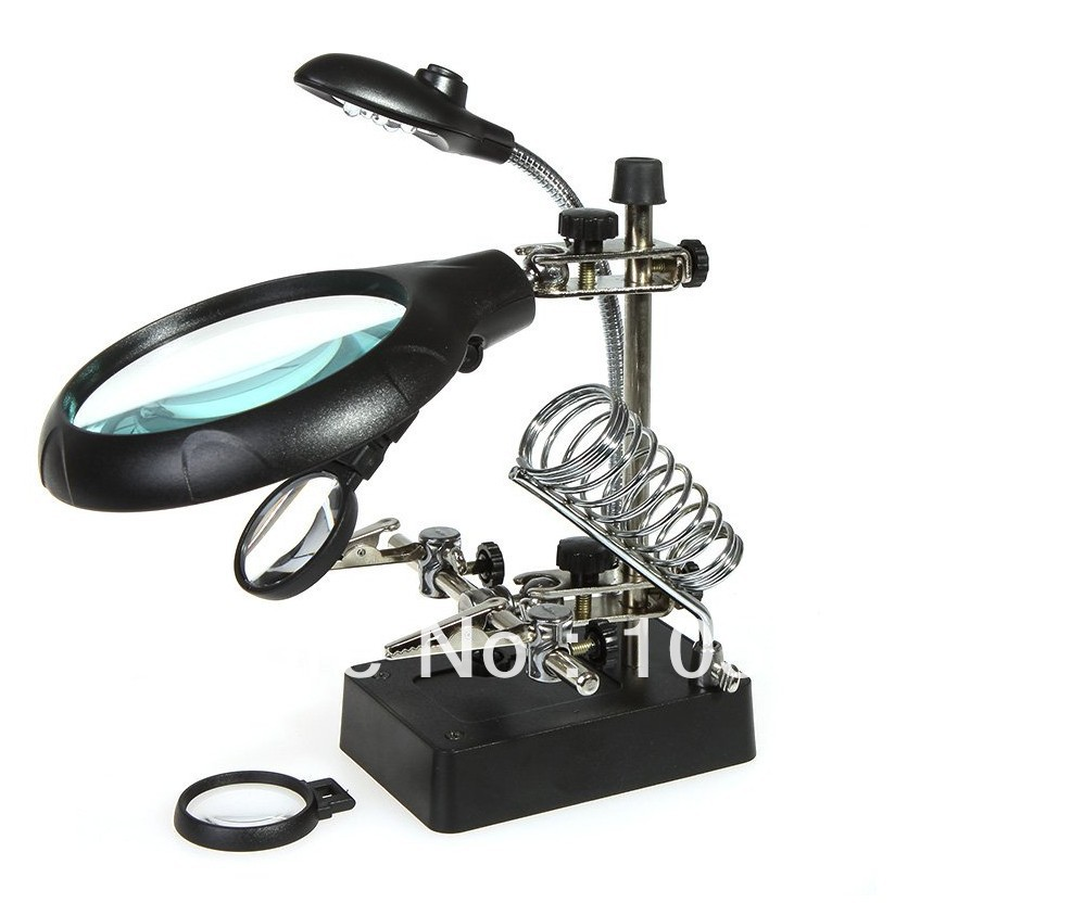 stand clamp tool magnifying glass free shipping in magnifiers from. Black Bedroom Furniture Sets. Home Design Ideas