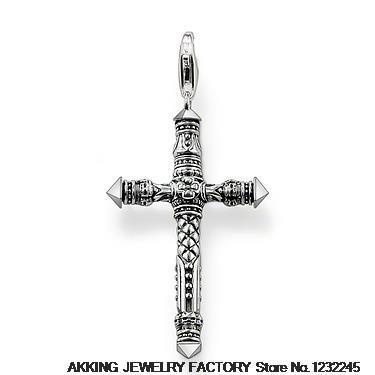 Здесь можно купить  cross Pendant 925 silver plated Thomas style charm pendants T0321-001-12 Rebel at heart Collection  Ювелирные изделия и часы