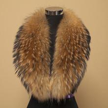 Winter 100% Real Natural Raccoon Fur Collar & Womens Scarfs Fashion Coat Sweater Scarves Collar Luxury Raccoon Fur Neck Cap(China (Mainland))