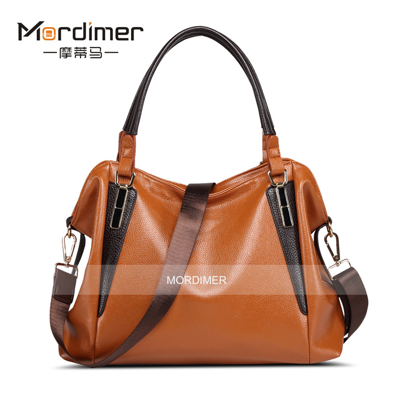 Фотография 2015 New Fashion Brand Litchi Pattern Handbags For Women Brief Patchwork Bag Elegant Lady