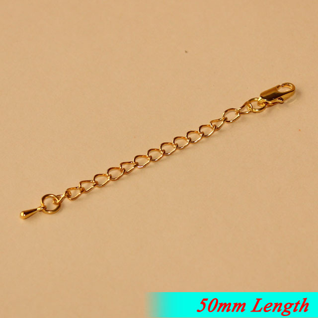 Fashion Necklace Extender Chains End Drops With Square Clasps Gold Plated 50mm Long Metal Jewelry Links diy Findings<br><br>Aliexpress