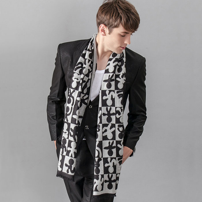 Hijab Leopard Print 2014 New Autumn Winter Fashion British Style Men's Business Silk Scarf Fringed Warm Scarves H-nswj27 - Online Store 738068 store