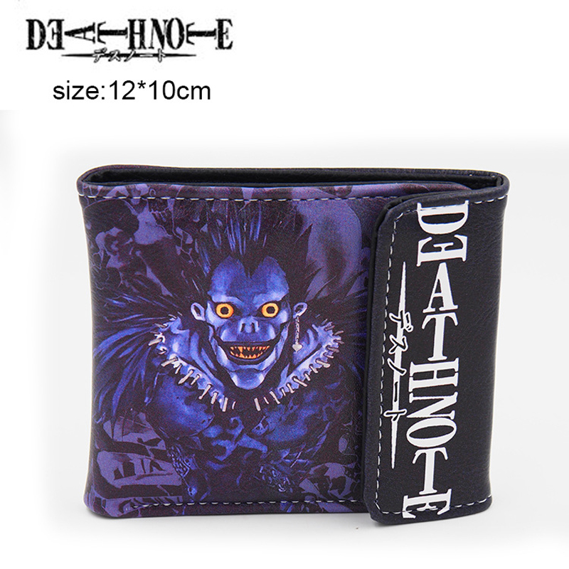 PU Short Purse Wallet With Colorful Printing Of Japanese Anime Death Note Ryuuku Type B(China (Mainland))