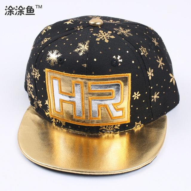 Золото / серебро / черный мальчик регулируемый бейсбол снэпбэк шляпы и шапки для малыша дети спорт хип-хоп хлопок солнца кепка