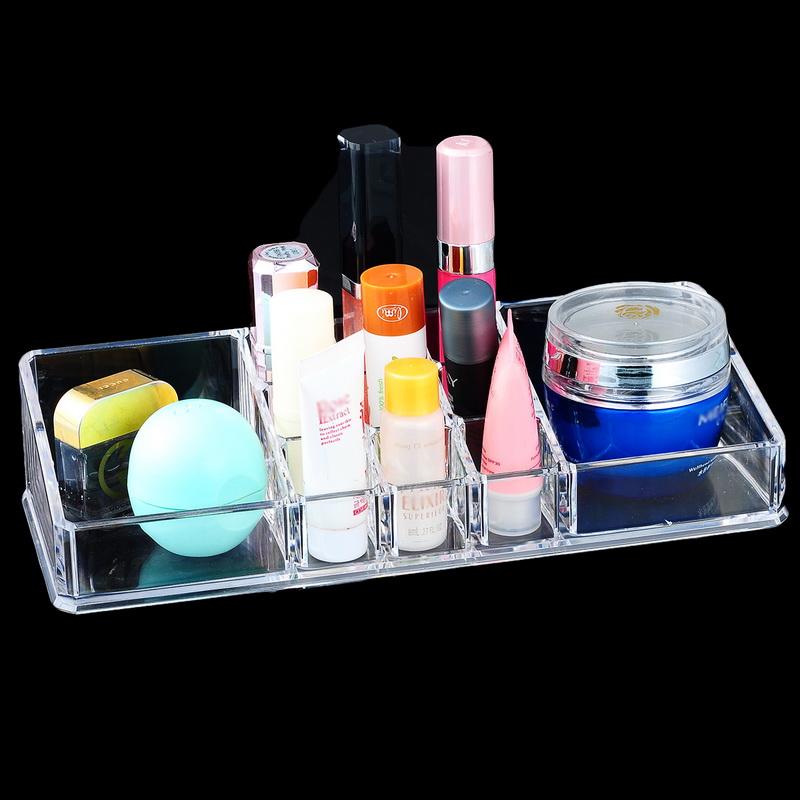 1PC Acrylic Storage Box Cosmetic Makeup Organizer Case Jewelry Storage Box Rangement Maquillage Lipstick Holder 22.5x9x5cm(China (Mainland))