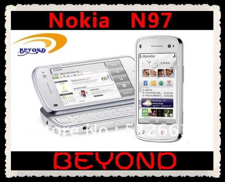 100% original brand new Nokia N97 unlocked 3G GSM mobile phone RUSSIAN Keyboard available WIFI GPS 5MP 32GB free shipping(China (Mainland))
