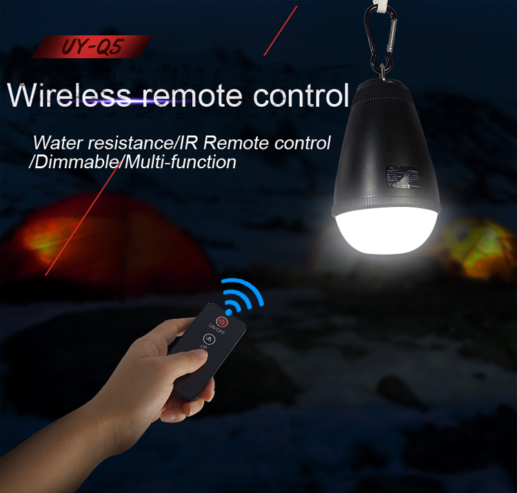 Remote Control Charging Lamp LED Waterproof Outdoor Camping Tents Lamp Dimming Power Failure Emergency Lights(China (Mainland))
