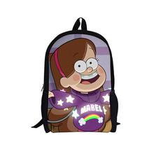 2015 New 16 Inch Cartoon Children Backpack Student School Bags School Gravity Falls Mochila for Teenage Kids(China (Mainland))