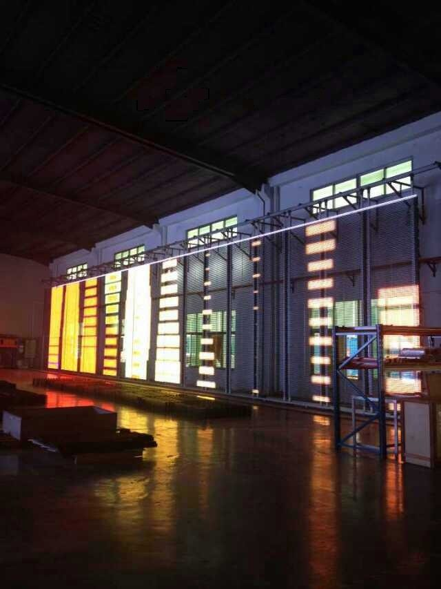 Leeman new product wall glass led display.new products alibaba express transparent glass led display(China (Mainland))