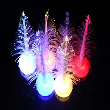 Цветочный многоцветный оптическое волокно рождественская елка ночь из светодиодов украшения орнамент