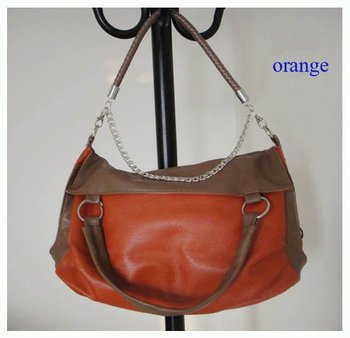 popular hangbag,Size:38 x 30cm,PU + Accessories,4 different colors,strap,promation for christmas! Free shipping